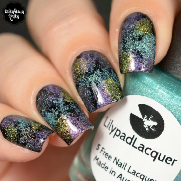 The Holo Hookup March 2018 Gelato sponged on nail art design   Nail ...