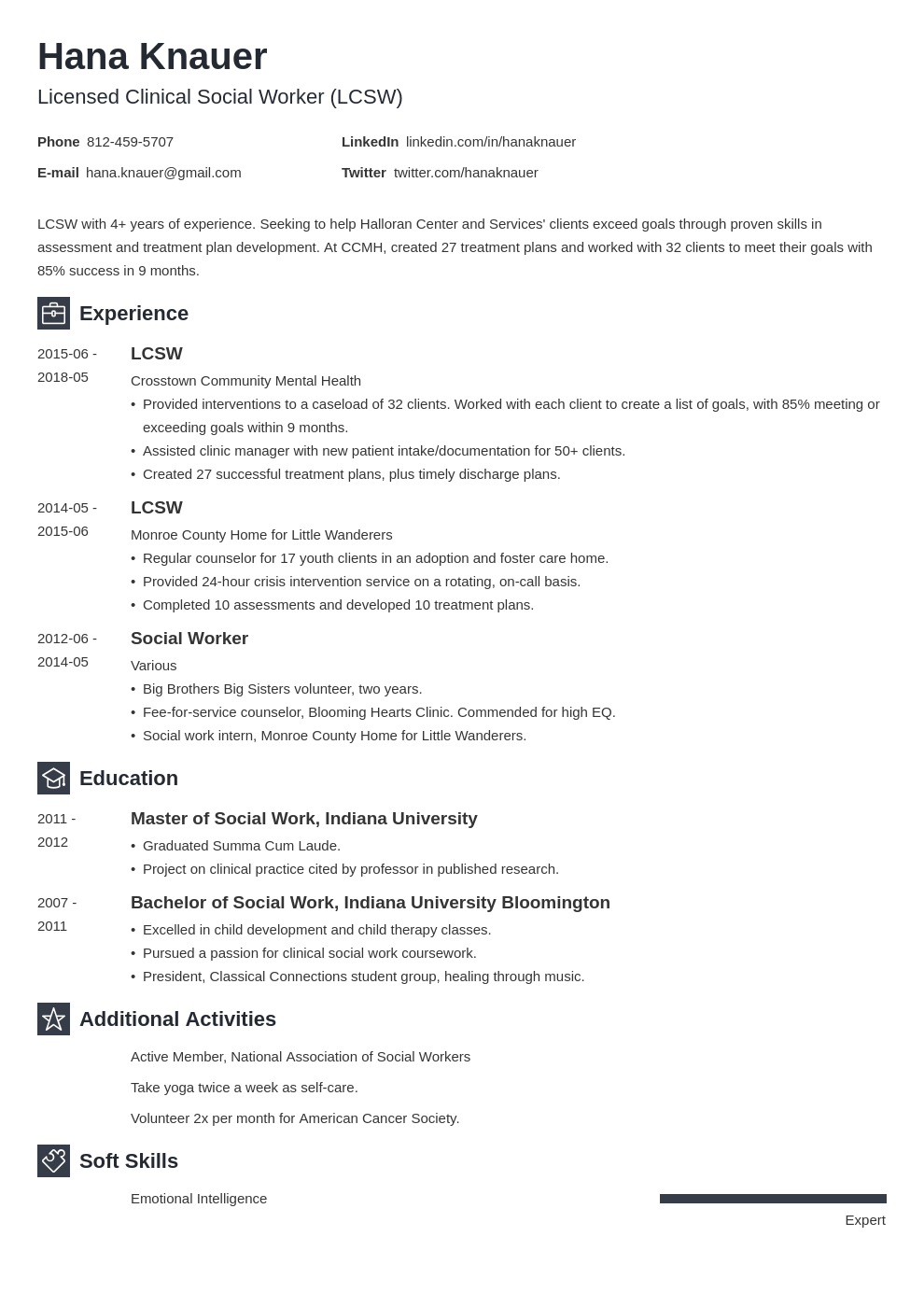 social work resume example template newcast in 2020 Job
