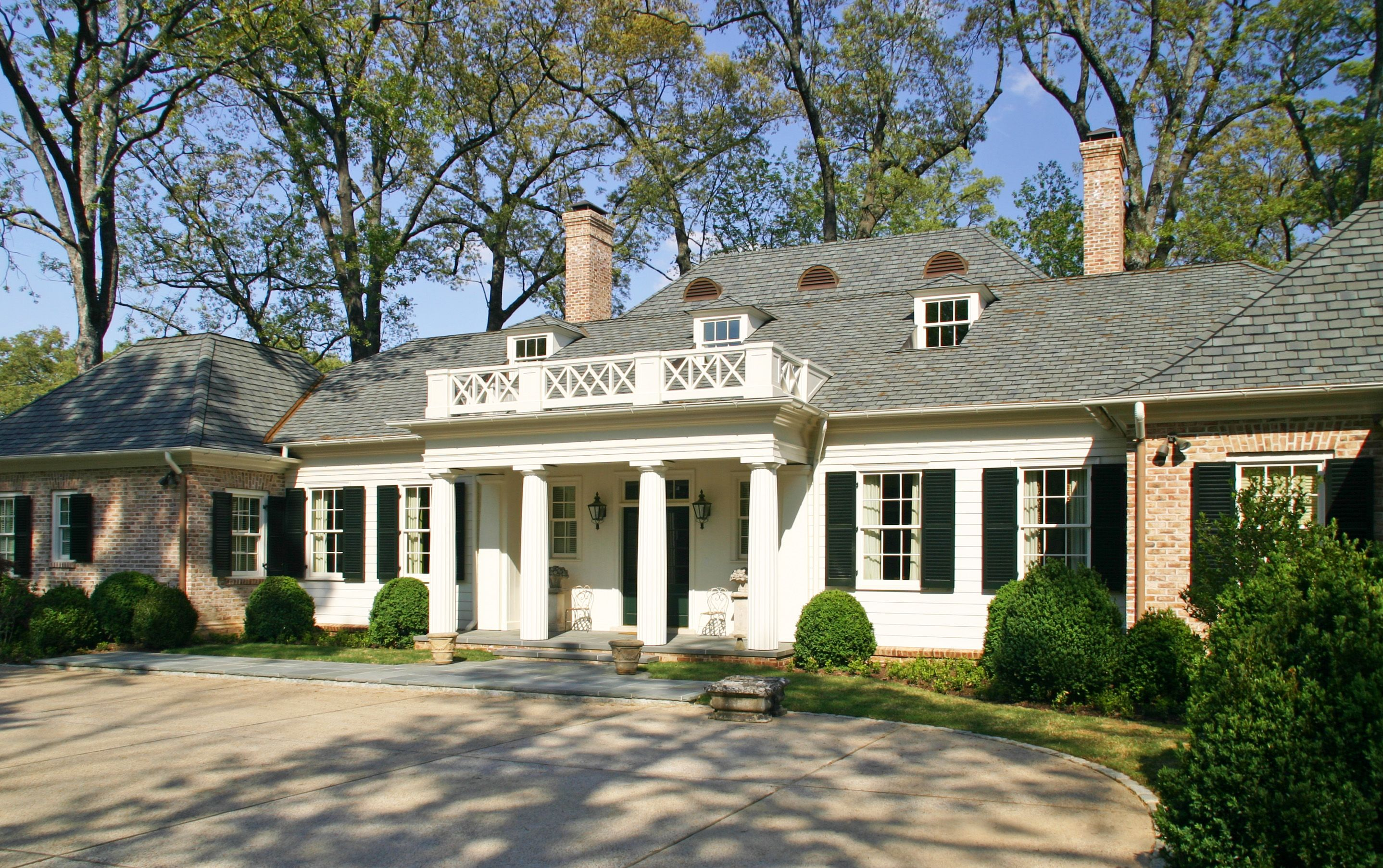 Low Country Raised Cottage Entry Elevation Menzer