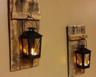 Rustic home decor rustic candles sconces home and living mason
