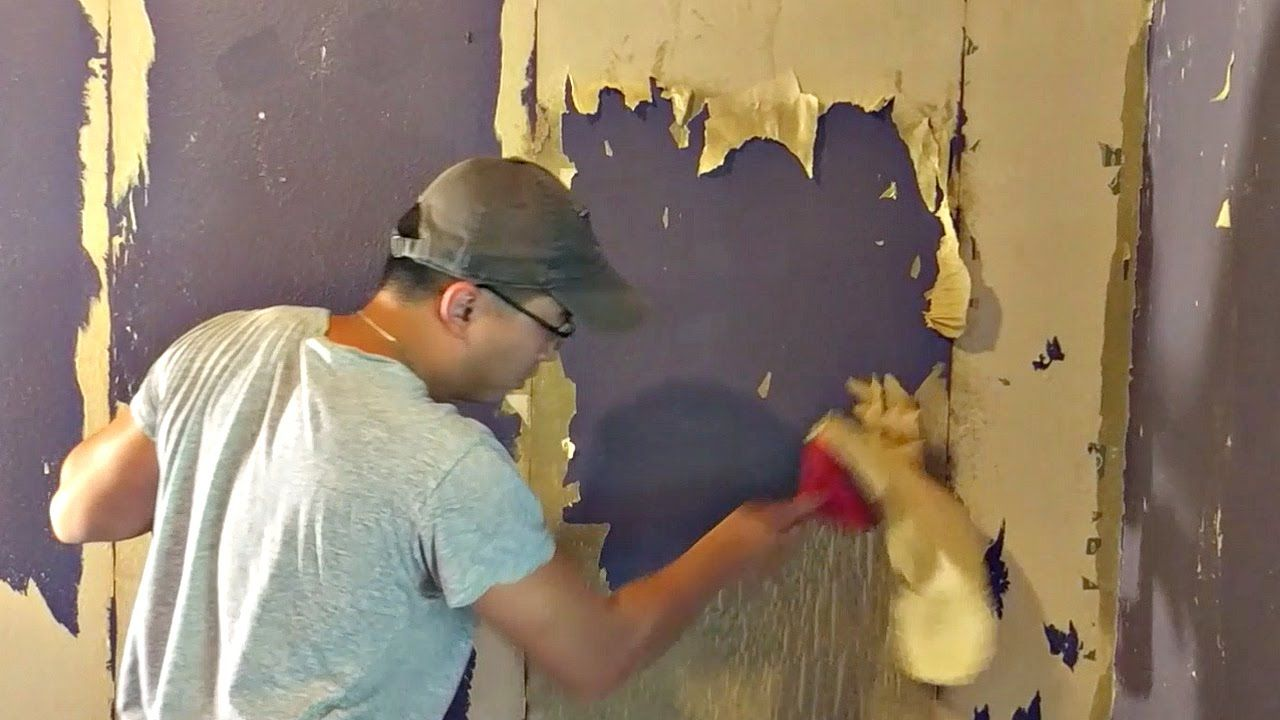 How To Remove Wallpaper Glue Youtube Removable Wallpaper Removing Old Wallpaper Old Wallpaper