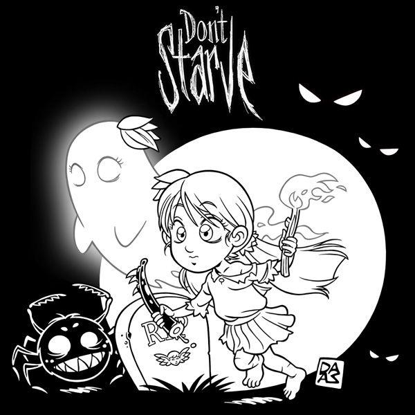 My little fan art for the videogame Don't Starve (www.dontstarvegame.com) - B/N