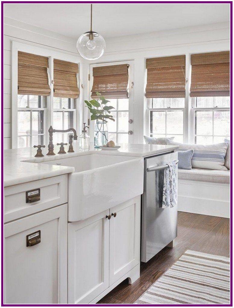28 simple farmhouse window treatments 00015 kitchen
