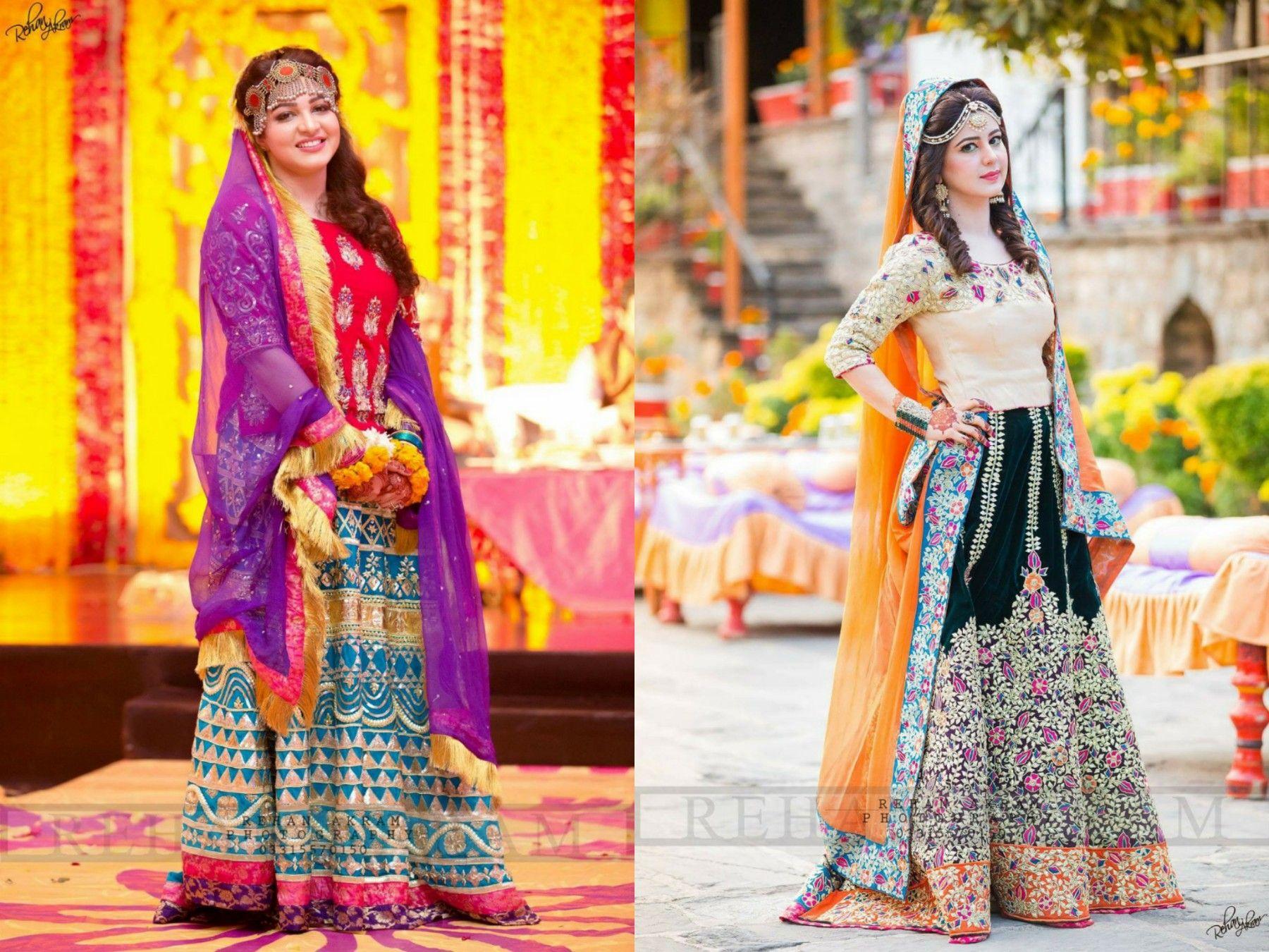 Mehndi Clothes For Brides : Photography by rehan akram mehndi bridal dress wear