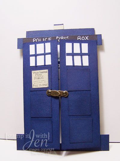FOR TILLY stamp it with Jen Doctor Who Birthday Card – Doctor Who Birthday Card