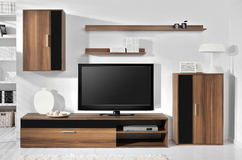 Living Room Wall Units Tv Stand Shelf Cabinet Drawers Coffee