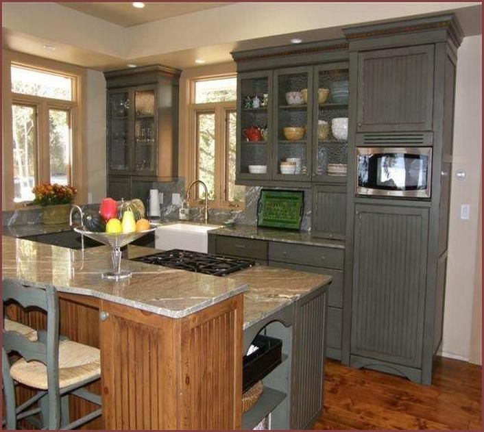 Painted Pine Kitchen Cabinets: Updating Knotty Pine Kitchen Cabinets