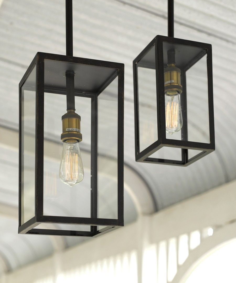 Southampton 1 Light Small Exterior Pendant in Antique Black ...