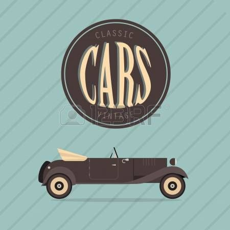poster of an old classic car photo