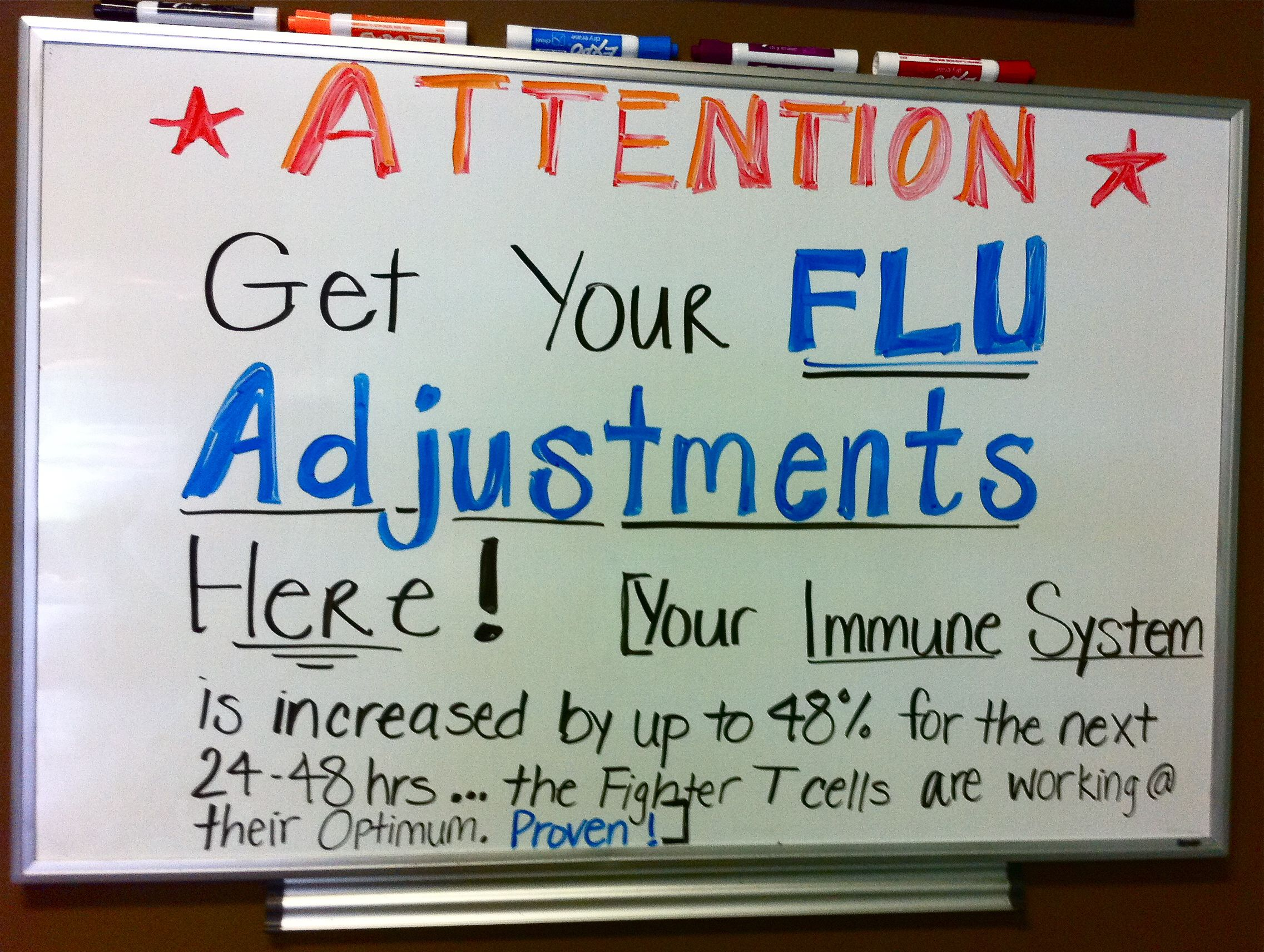 Did you get your Flu Adjustments?? | Flu, Immune system and ...