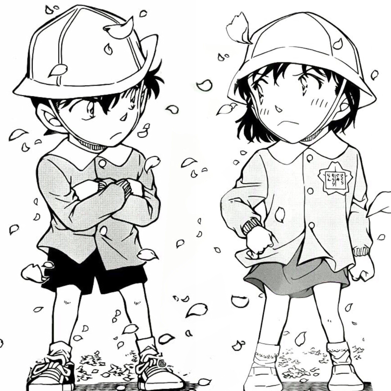 Detective conan shinichi and ran detective conan for Detective conan coloring pages