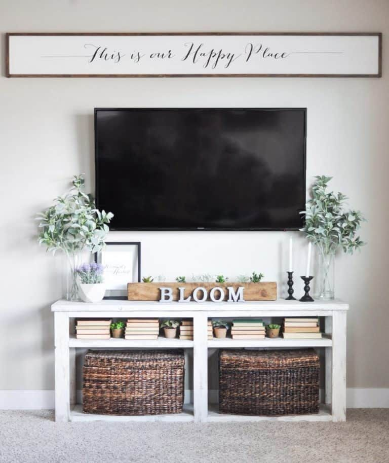 How to Decorate Around a TV | The Savvy Sparrow