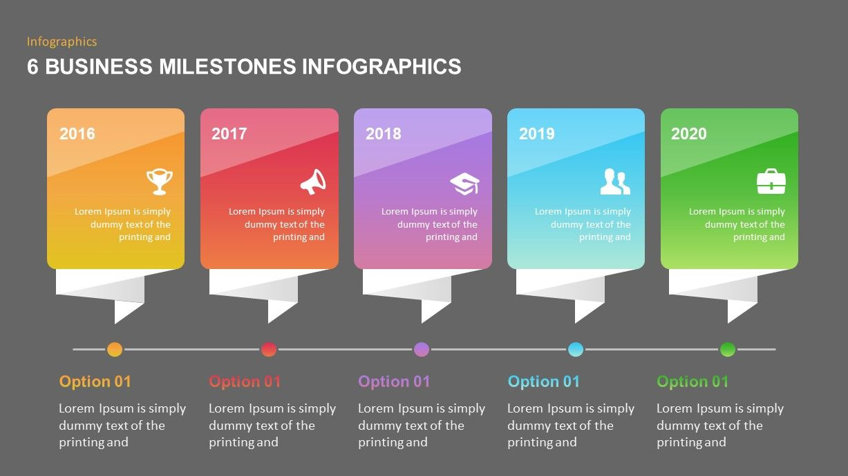 6 Business Milestones PowerPoint Template The 6 business
