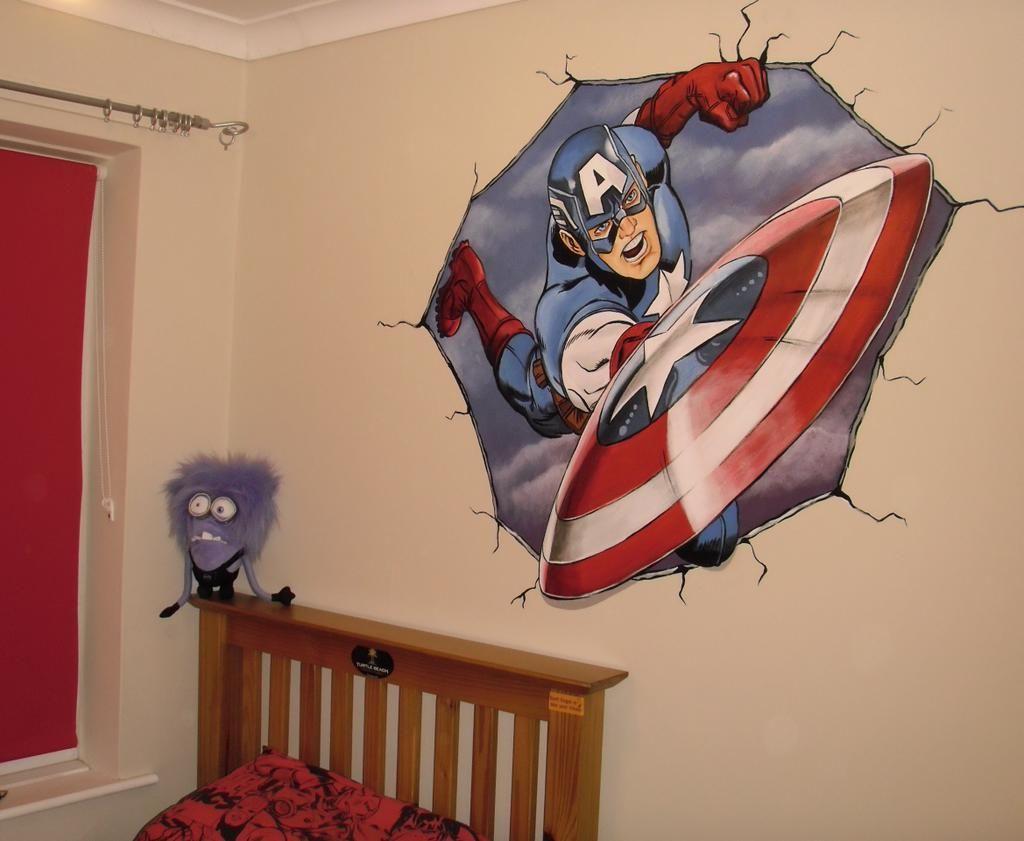Captain america bursting through my sons bedroom wall www captain america bursting through my sons bedroom wall custommurals amipublicfo Choice Image