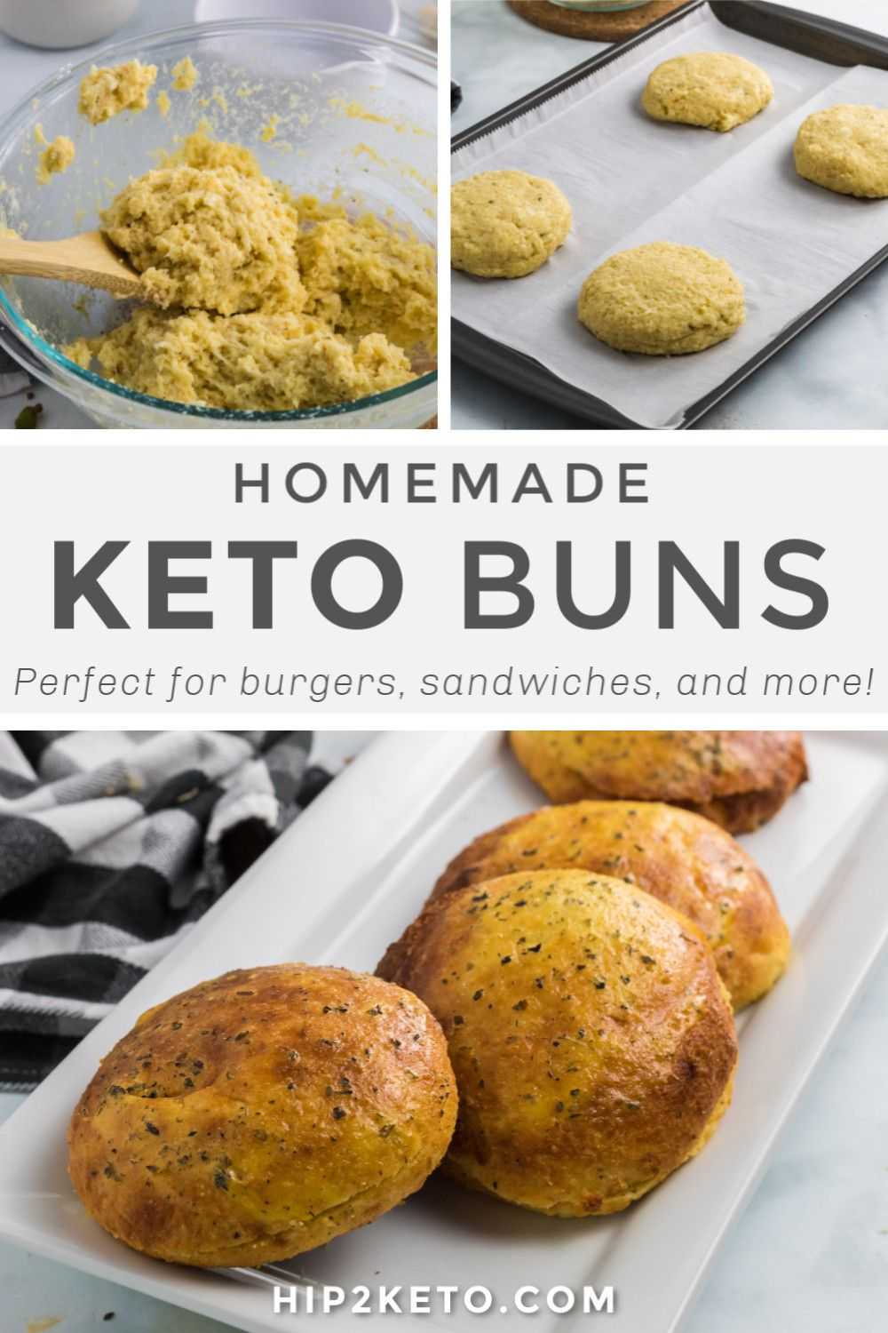 The Best Keto Buns - Crusty Outside and Soft Interior!