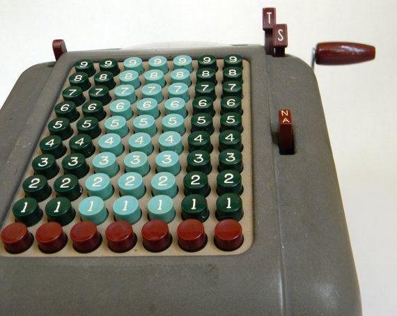 vintage Smith Corona adding machine by Mylittlethriftstore on Etsy, $50.00