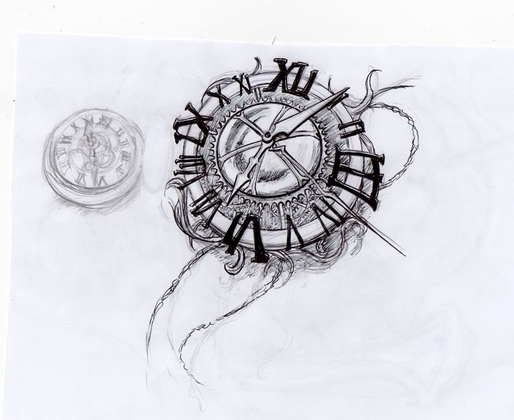Dise o de reloj zonatattoos elementos de dise o for Reloj para tatuar