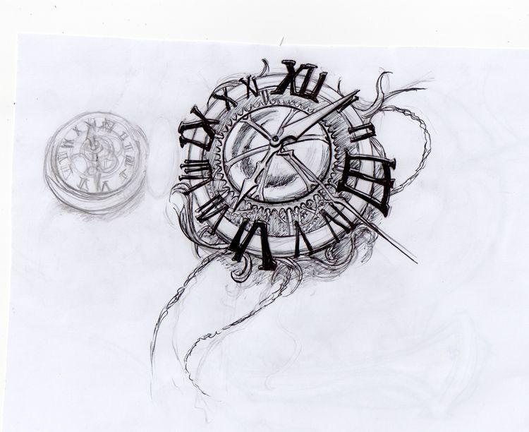 Diseño de Reloj ZonaTattoos (con imágenes)   Tatuajes de