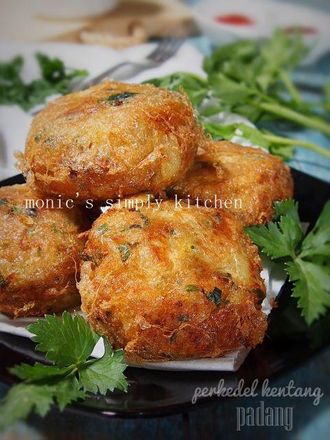 Perkedel Kentang Padang Monic S Simply Kitchen Masakan Vegetarian Resep Makanan Resep Masakan Indonesia