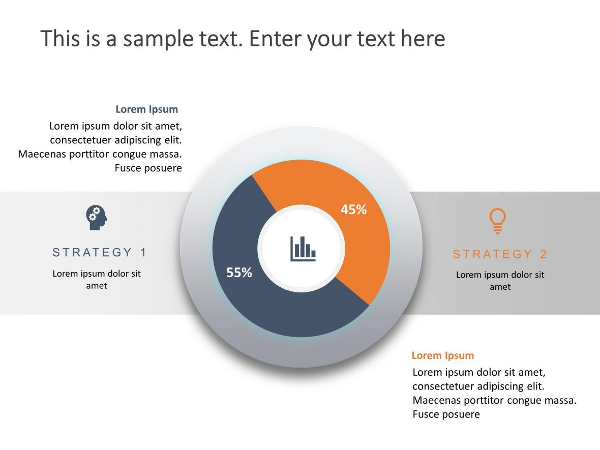 2 Steps Business Strategy Infographic powerpoint