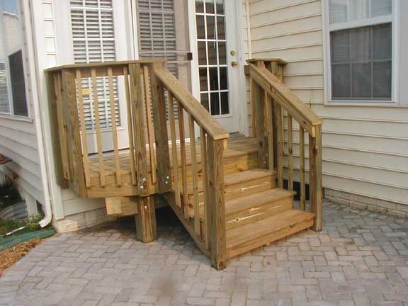 Wooden Steps For Garden Wooden Stepswith A Landing Decks