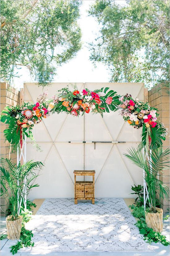 Tropical Glamour Wedding Wedding Ceremony Ideas Pinterest