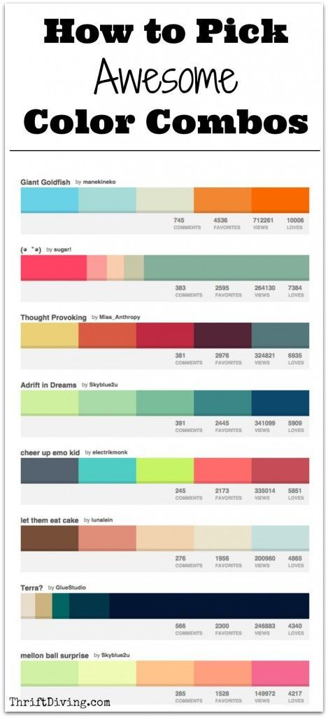 How To Pick Awesome Color Combos Color Combos Color Schemes Palette