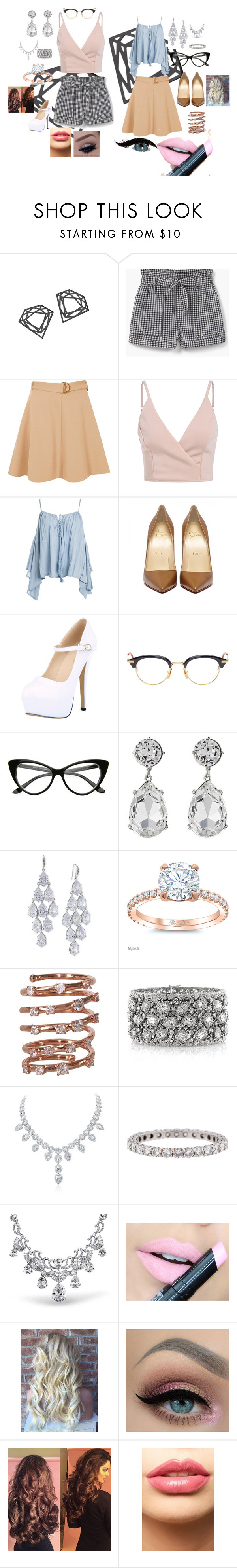 """""""Dia"""" by isabellarowlee on Polyvore featuring Myia Bonner, MANGO, River Island, Sans Souci, Thom Browne, Kenneth Jay Lane, Carolee, Plukka, Mark Broumand and Tiffany & Co."""