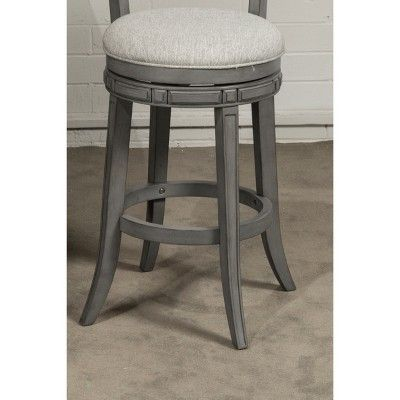 30 Santa Clara Swivel Bar Stool Gray Ash Hillsdale Furniture