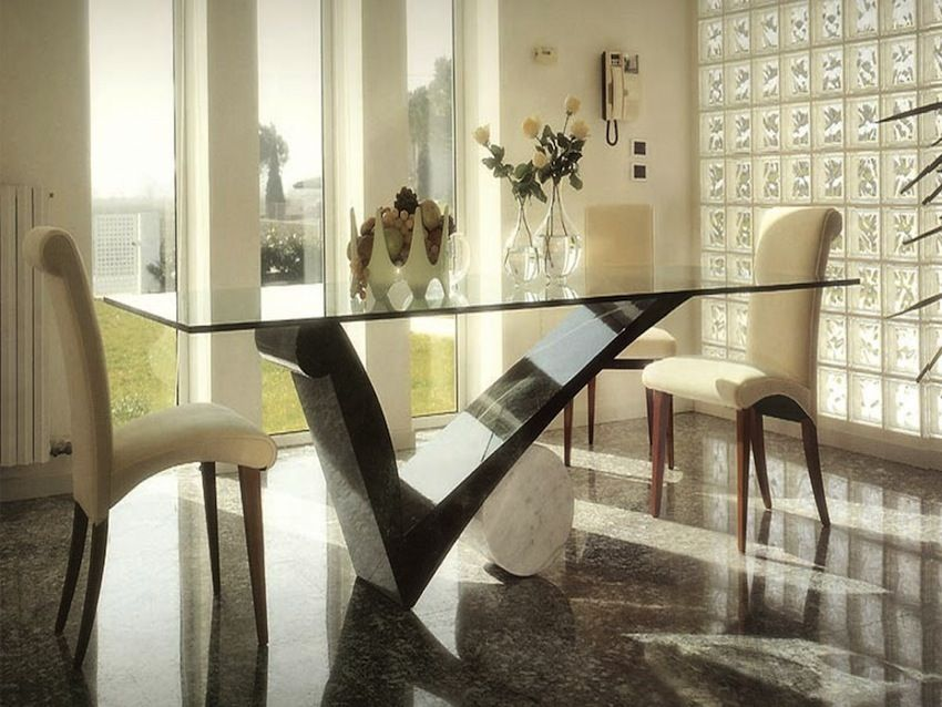 10 Superb Square Dining Table Ideas For A Contemporary: 10 Shimmering Square Glass Dining Tables That Will Impress