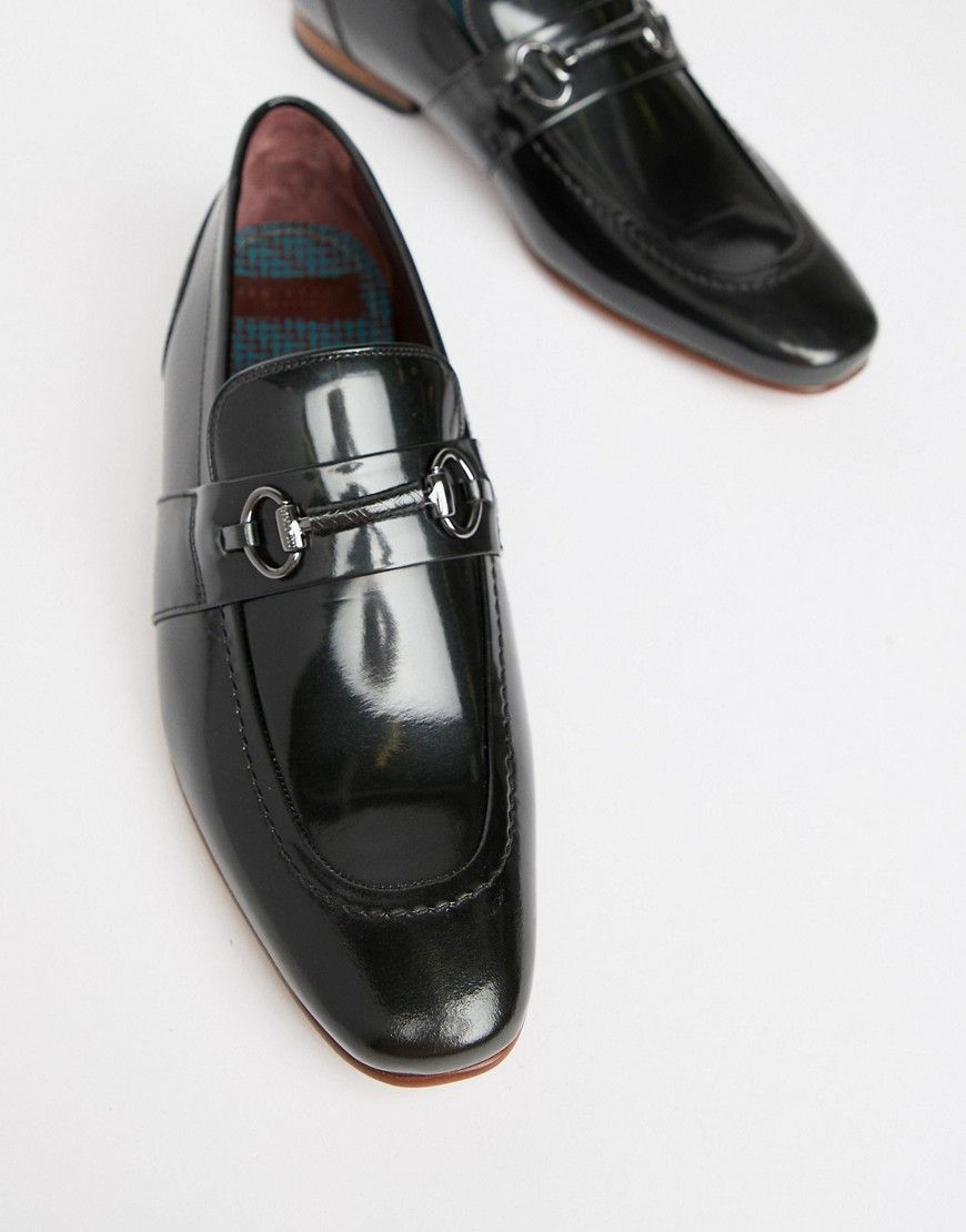 ac2cd1335e59 TED BAKER PAISER LOAFERS IN BLACK PATENT - BLACK.  tedbaker  shoes ...