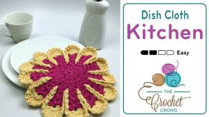 Crochet Chrysanthemum Dishcloth Pattern