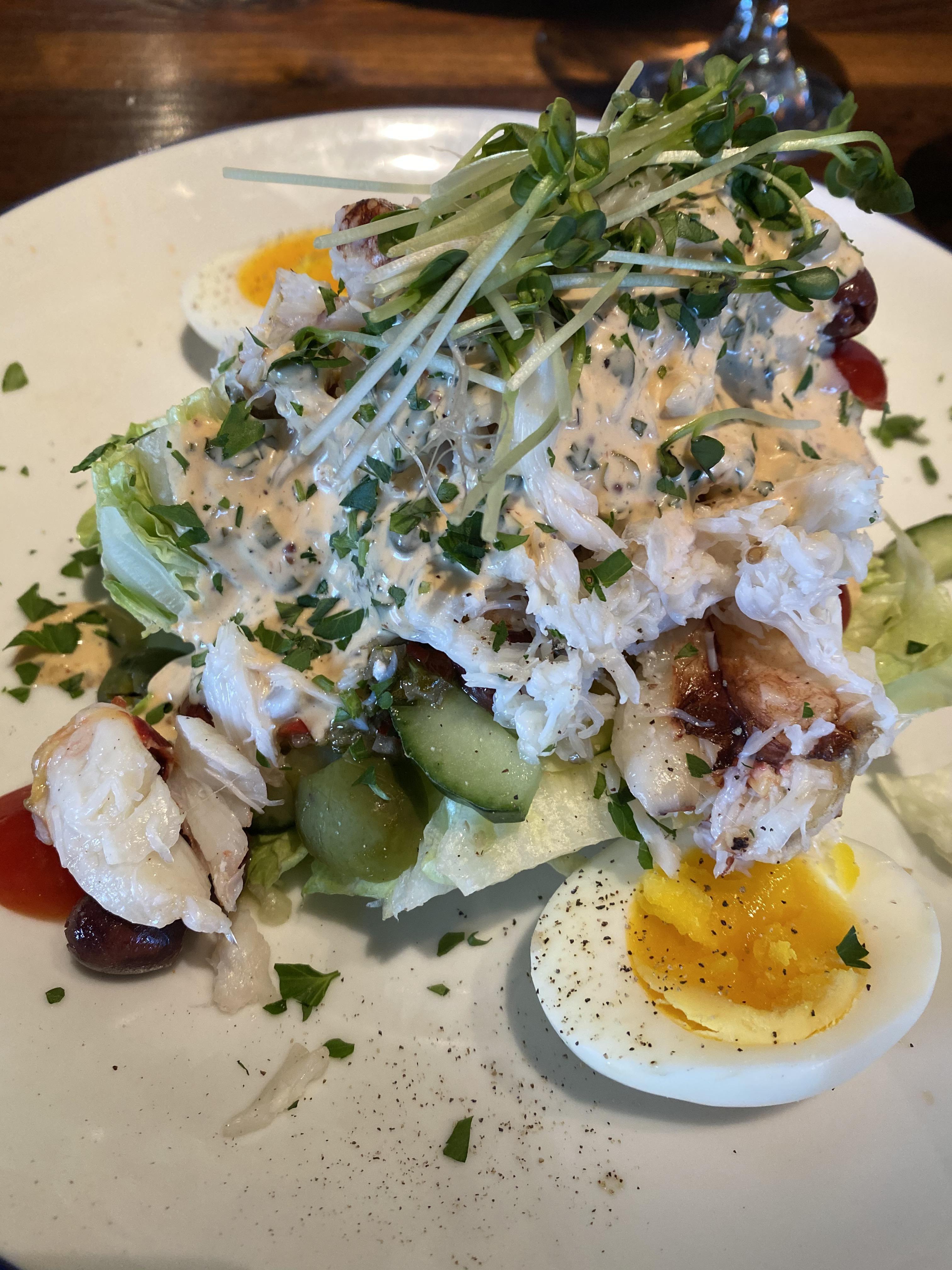 Crab wedge salad at Buck and Rider