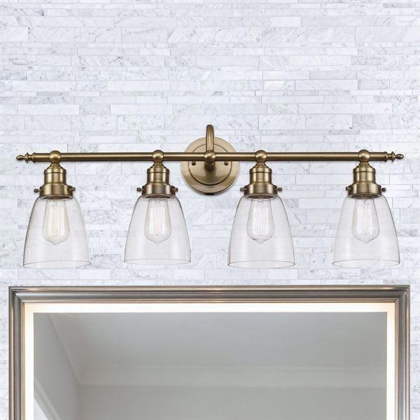 Bel Air Lighting 4 Light Soft Tone Gold