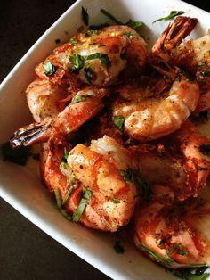 garlic-shrimp-recipe, Brine the shrimp for a few minutes cooking to enhance and truly season the shrimp. YUM!