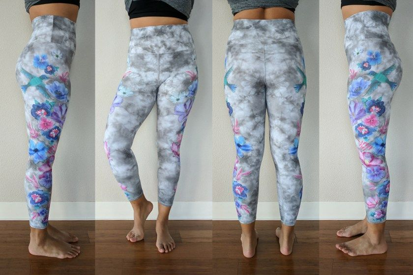 7cce3610a382b Evolution and Creation Review: Floral Stitching High-Waist Leggings ...
