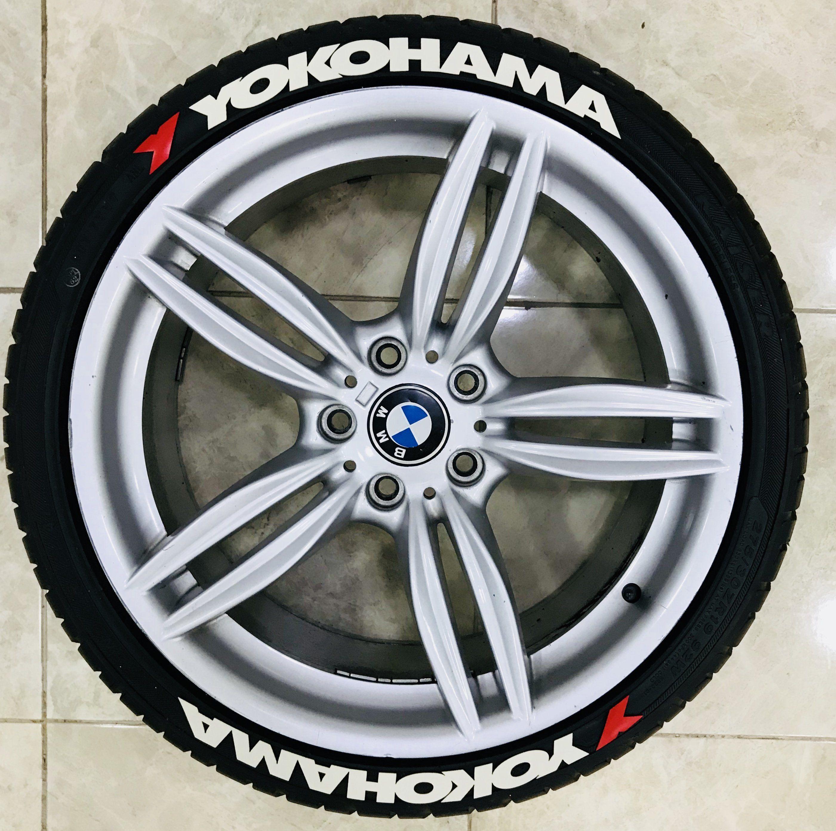 Yokohama Tire Lettering >> 1 Red Yokohama Rubber Permanent Tire Letter 8 Pcs 3d Tire