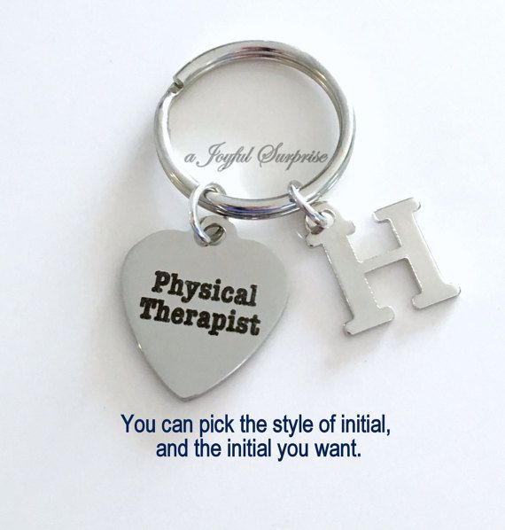 Physical Therapist Keychain PT Key Chain Gift for Physical Gift
