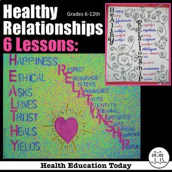 Health Lesson: Healthy Relationships – What Do They Look Like? BEST SELLER!