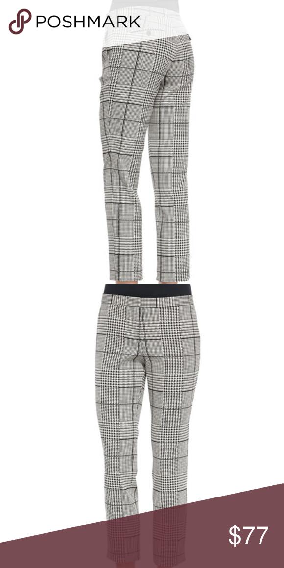 c8f61e92 Theory Rhythm Printed Cropped pants Black white 2 Theory Item-style pants  in Rhythm printed