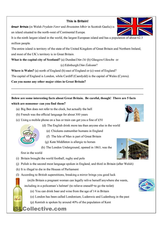 Pin On Language Culture English reading exercises british