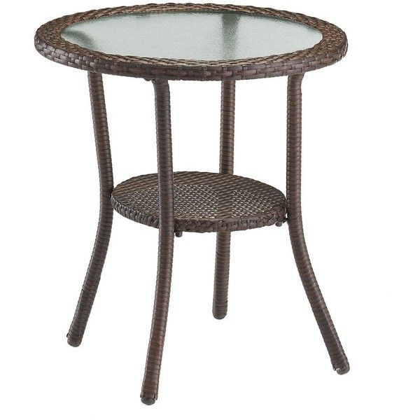 SONOMA Outdoors Presidio Patio Wicker Bistro Table, Brown ($80) ❤ Liked On  Polyvore