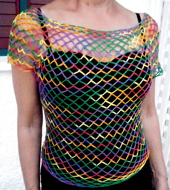 Ravelry Hot Mesh Top Pattern By Margaret Zellner Free To Download