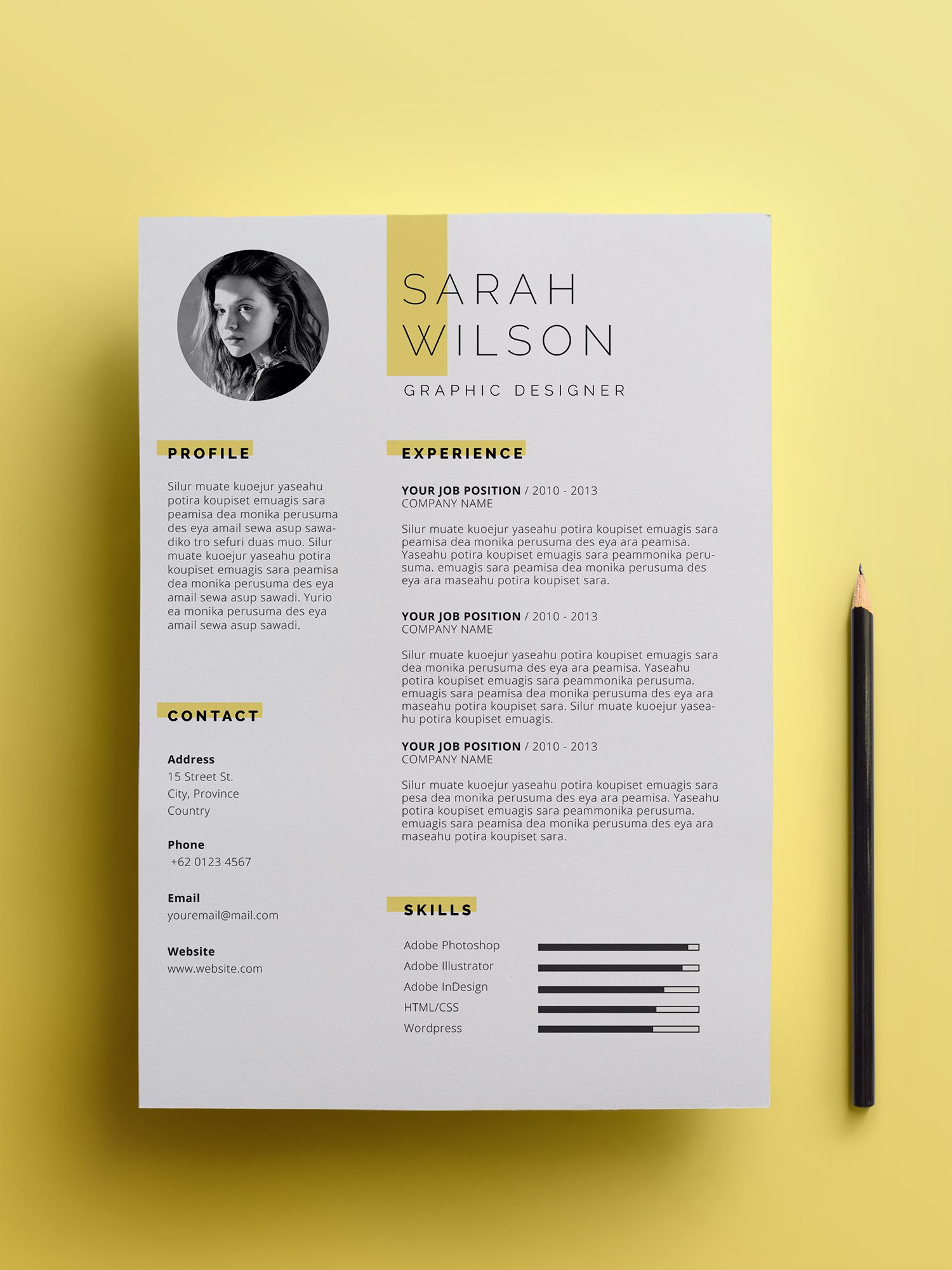 Professional Resume Template For Microsoft Word With Cover Letter Resume Template With Photo Resume Template Word Cv Template In 2021 Graphic Design Resume Graphic Design Cv Resume Design Creative