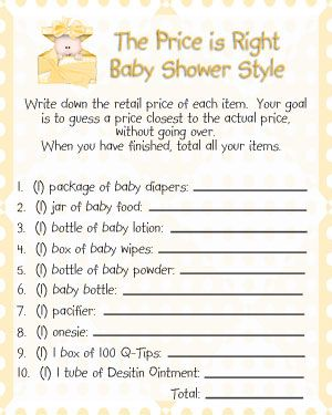 The price is right baby shower game little slugger for Free printable price is right baby shower game template
