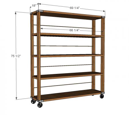 Rolling Industrial Shelves Wood Diy Diy Shelves Furniture Diy