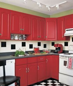 Candy Apple Red Color  ~ Future Fun ~ Playful Projects Delectable Kitchen Design Red And Black Inspiration
