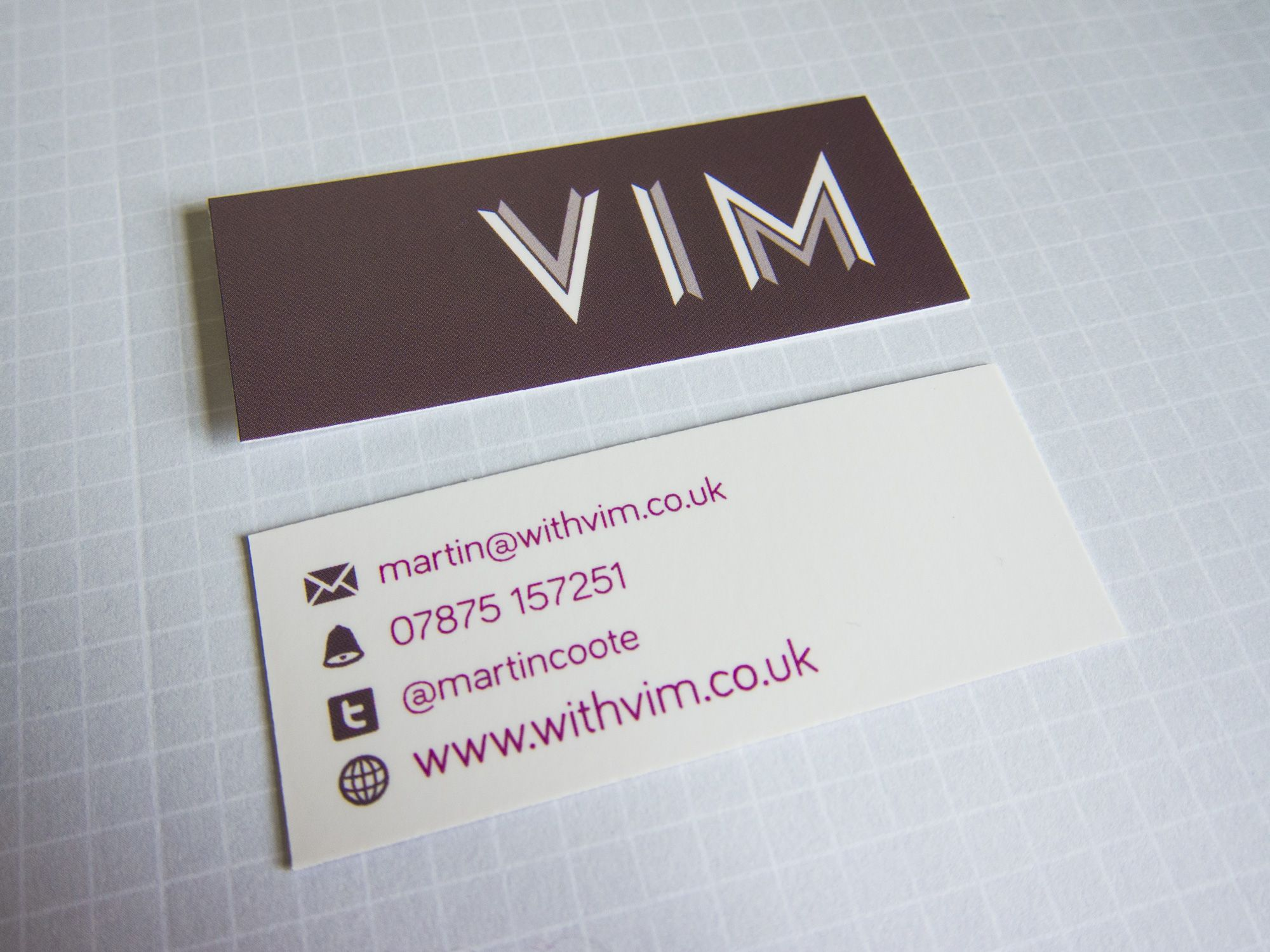 Vim moo mini business card. | Design Goodies | Pinterest | Business ...