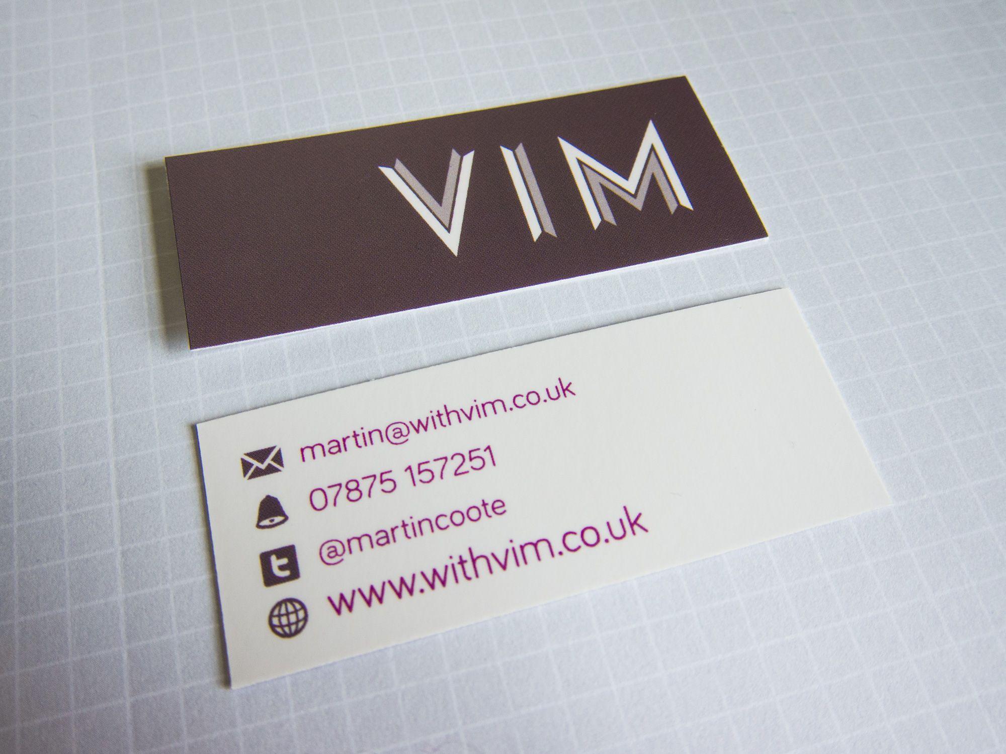 vim moo mini business card design goo s