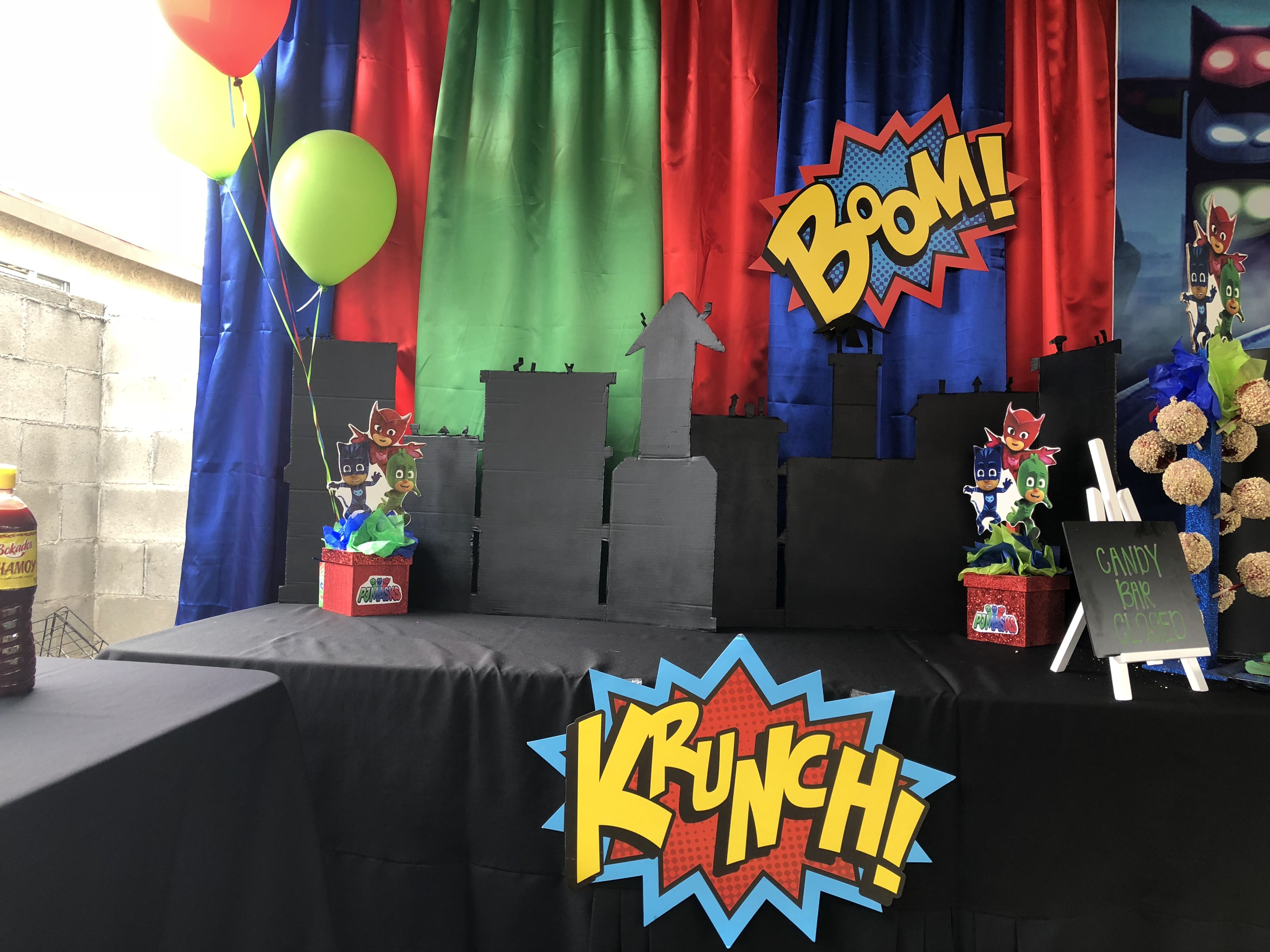 Pj Masks Gift Table Gift Table Family Parties Party Gifts